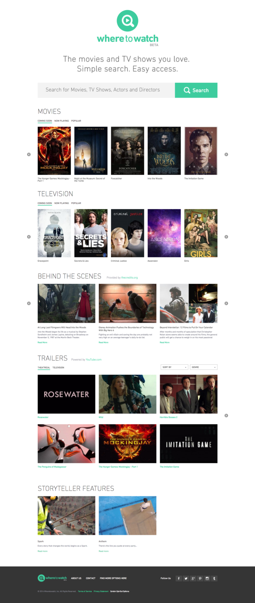 The Motion Picture Assn. of America has launched a new website to help consumers search for movies and TV shows on legitimate platforms.