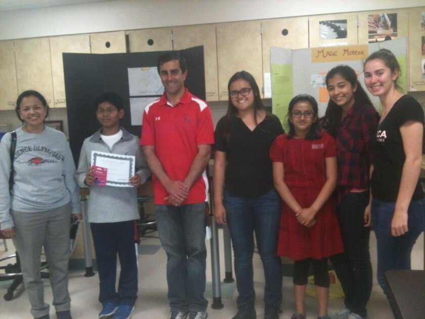 Uma Krishnan, Rajdeep Singh, Kaveh Shakeri (CCA chemistry teacher), Julie Vaughn, Siddhi Shukla, Astha Patra, and Noel Martinez