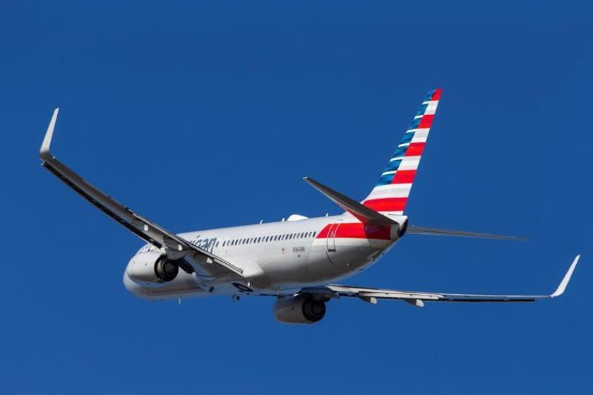 An American Airlines Boeing 737-800 takes off from Ronald Reagan National Airport in Arlington, Virginia, on Tuesday, March 12. EFE-EPA