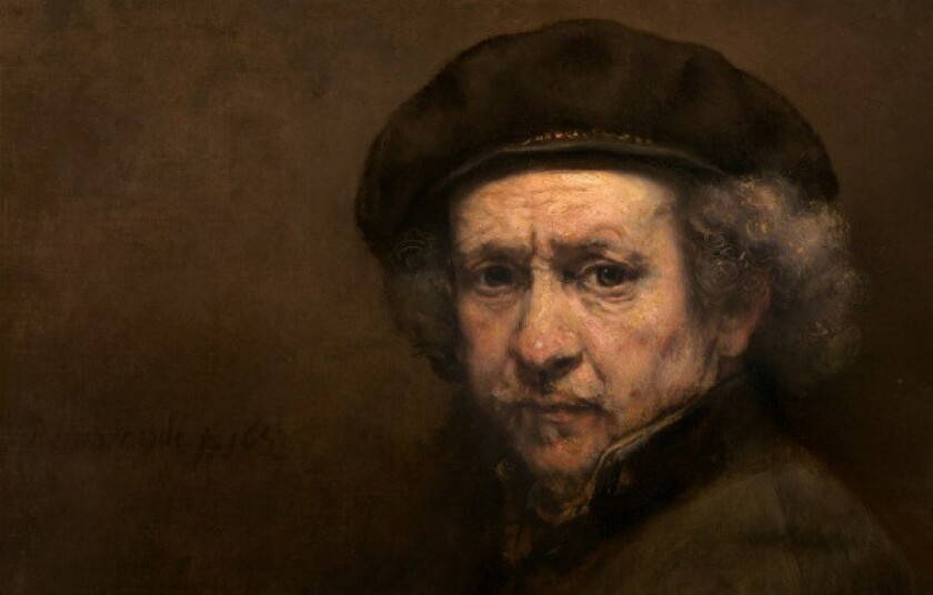 A self-portrait by Rembrandt, dating from 1659, at the National Gallery of Art in Washington.