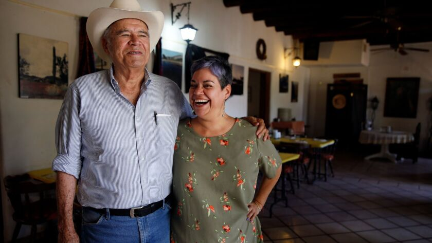Miguel Cruz Ayala, left, and daughter Olimpia Cruz Puebla at their Restaurante Viva Sonora. Ayala opened the restaurant in 1995.