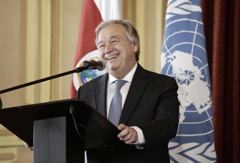 El secretario general de la Organización de las Naciones Unidas (ONU), António Guterres. EFE/Archivo
