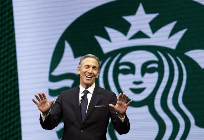 Howard Schultz stepped down as chairman and CEO of Starbucks in June.