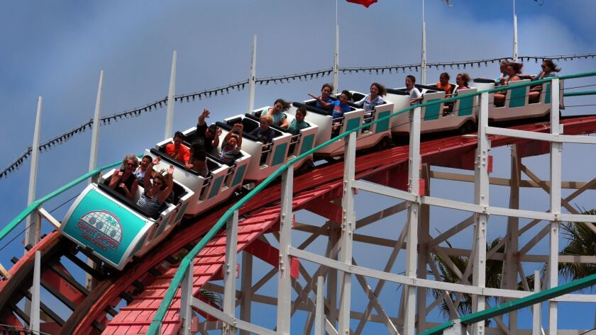 The Giant Dipper roller coaster