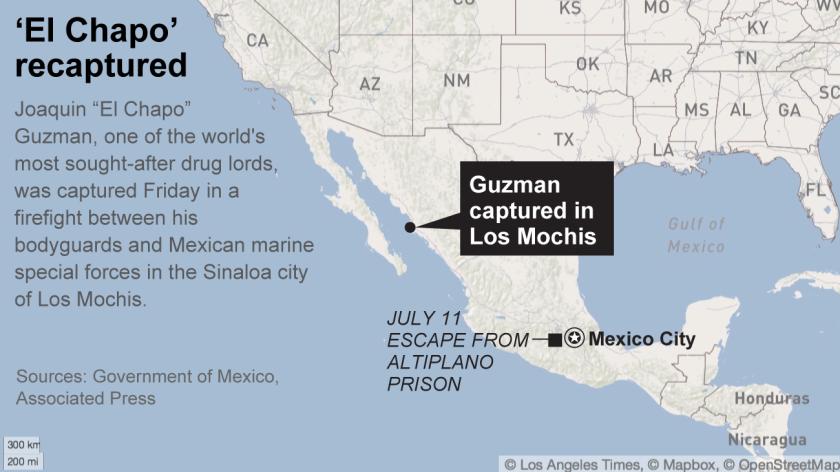 El Chapo captured in Los Mochis