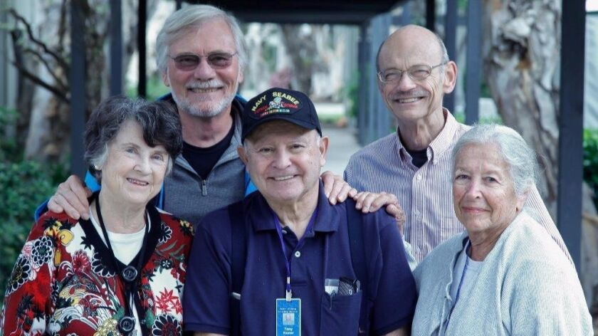 Seniors on Tech: Seniors (from left) Patricia McCabe, 85, Jim Wyrtzen, 74, Anthony Riesner, 79, Kenn