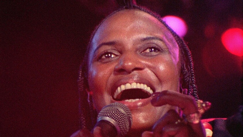 "Miriam Makeba in the documentary ""Mama Africa: Miriam Makeba."""