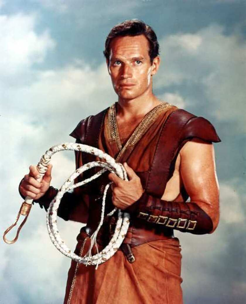"Charlton Heston in ""Ben-Hur."""