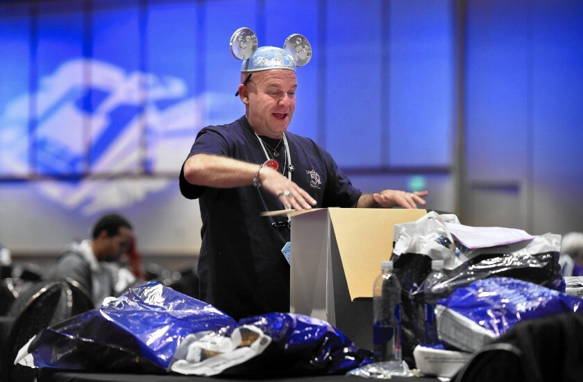 Daniel Bowen spent $3,000 on items including special edition Mickey Mouse ears and collectible pins during an event at the Disneyland Hotel in May.