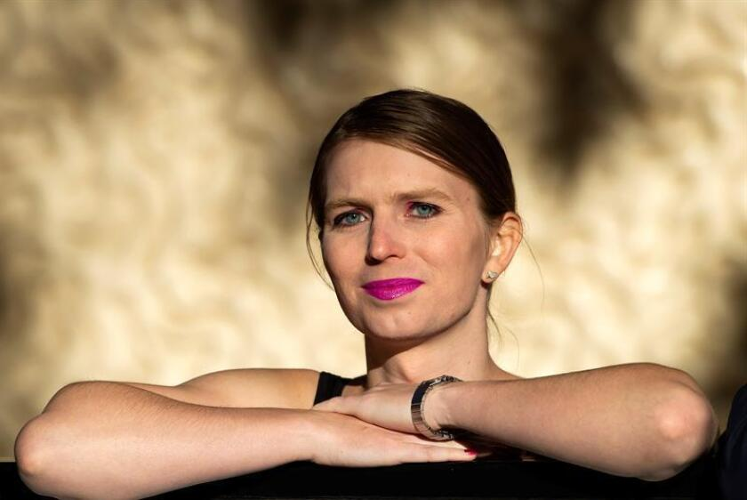 File photo dated Oct. 1, 2018, showing former US soldier Chelsea Manning, who was sent back to prison on March 8, 2019, for refusing to provide testimony to a grand jury investigating WikiLeaks founder Julian Assange. EFE-EPA/ Facundo Arrizabalaga