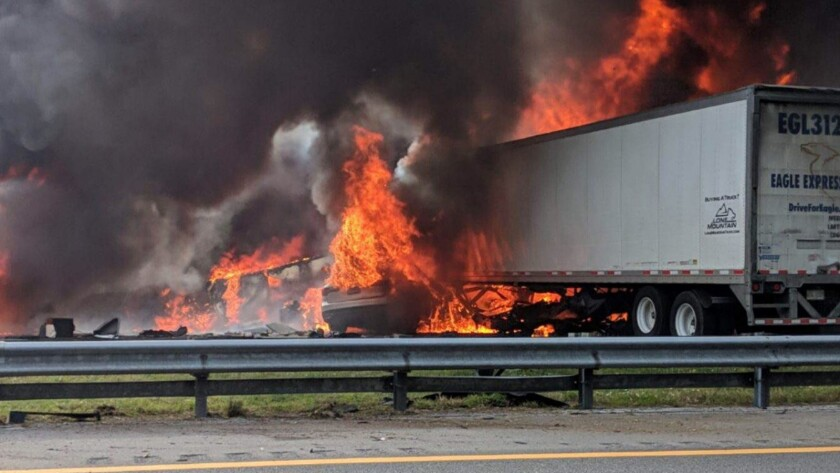 The crash on Interstate 75 near Gainesville, Fla.