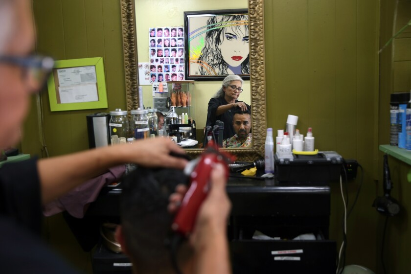 Column: Learning Spanish at a Boyle Heights hair salon reminds me what I love about L.A.