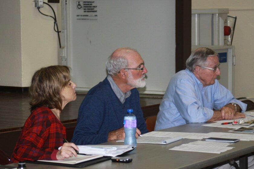 Traffic & Transportation board members Donna Aprea, Dave Abrams and Tom Brady
