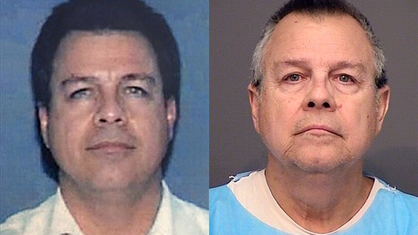 Lamberto Castillo is pictured in his 1996 California DMV photo, left, and in a booking photo last we