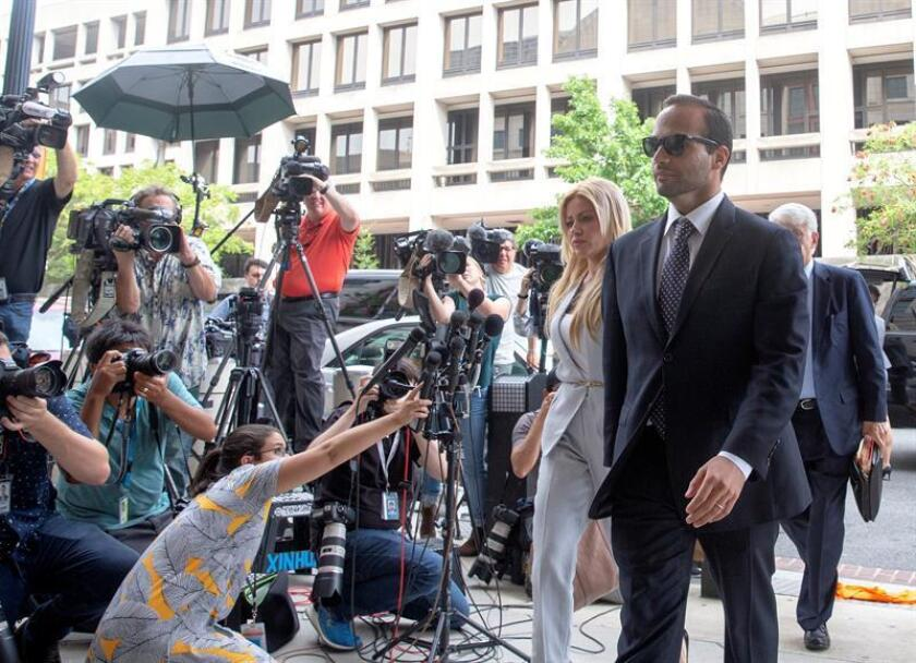 Simona Mangiante Papadopoulos and George Papadopoulos arrive at US District Court in Washington, DC, USA. EFE/EPA/FILE