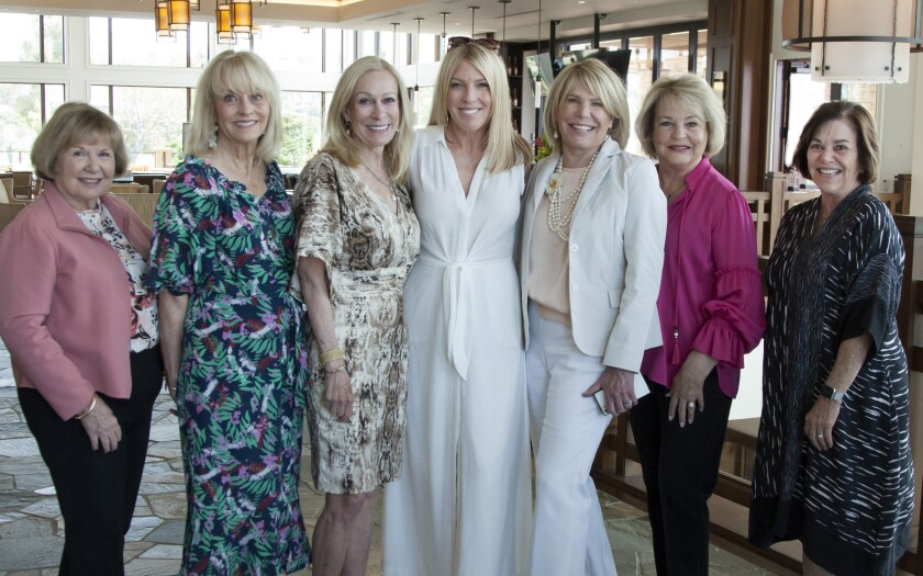 Patti Rose, Nanette Mayo, Teri Elliott, Cari Young, Kris Peyton, Lorraine Eggleston, Jo Corbett at the pre-event party.