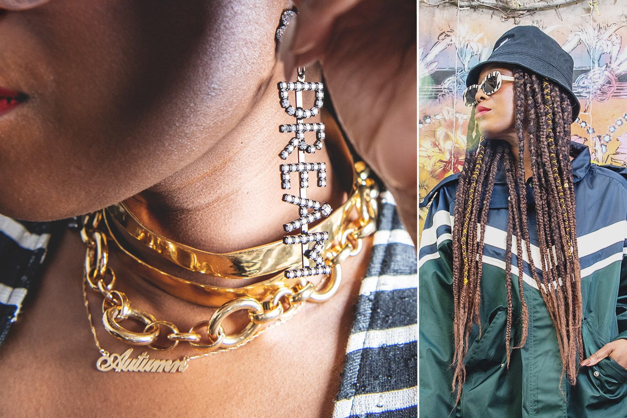 Photos of West Hollywood-based designer Autumn Adeigbo.