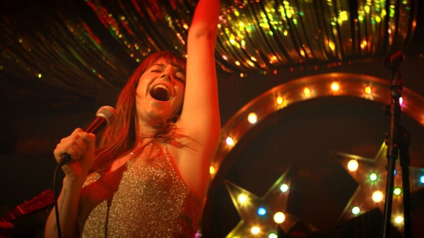 "Jessie Buckley in a scene from ""Wild Rose."" Credit: Neon"