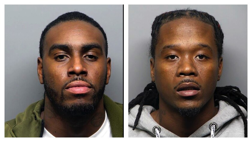 Domico Dones and Frederick Johnson, arrested in connection with Halloween party shooting
