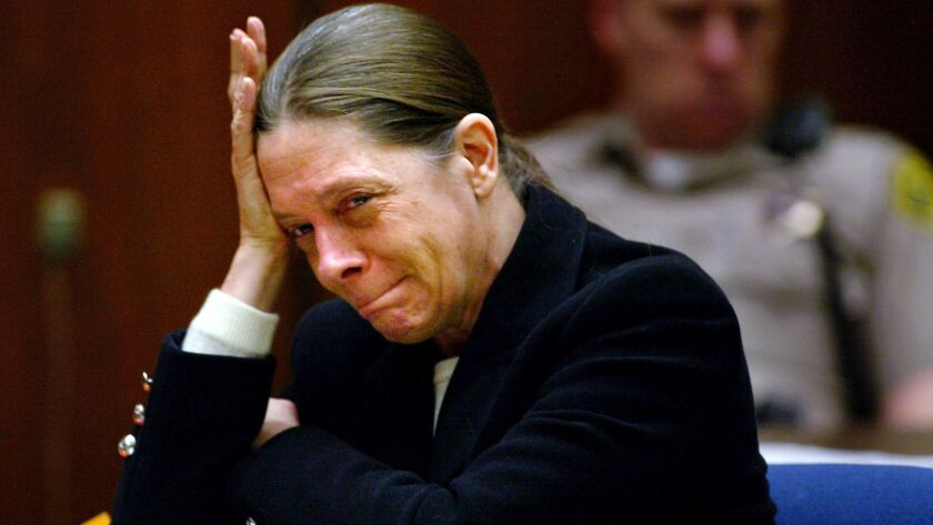 In this Feb. 19, 2002, photo, Marjorie Knoller weeps as her attorney describes the death of Diane Whipple. California commissioners on Thursday denied parole for the former San Francisco attorney serving a life sentence in the dog-mauling case.
