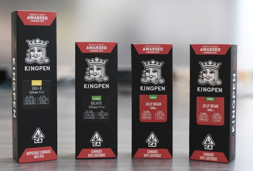 Kingpen vape gear, both real and counterfeit