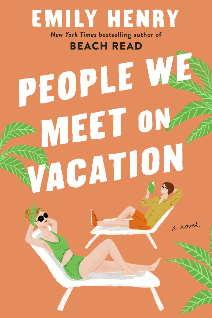 """This cover image released by Berkley shows """"People We Meet on Vacation,"""" a novel by Emily Henry. (Berkley via AP)"""