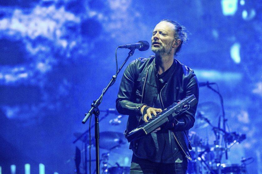 Thom Yorke de Radiohead durante el Coachella Music & Arts Festival del 2017.