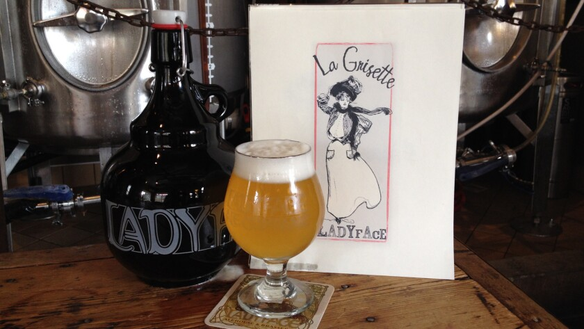 The Agoura Hills brewpub Ladyface Ale Companie makes La Grisette, an example of a grisette brewed with wheat, built around a brisk, tart zing.