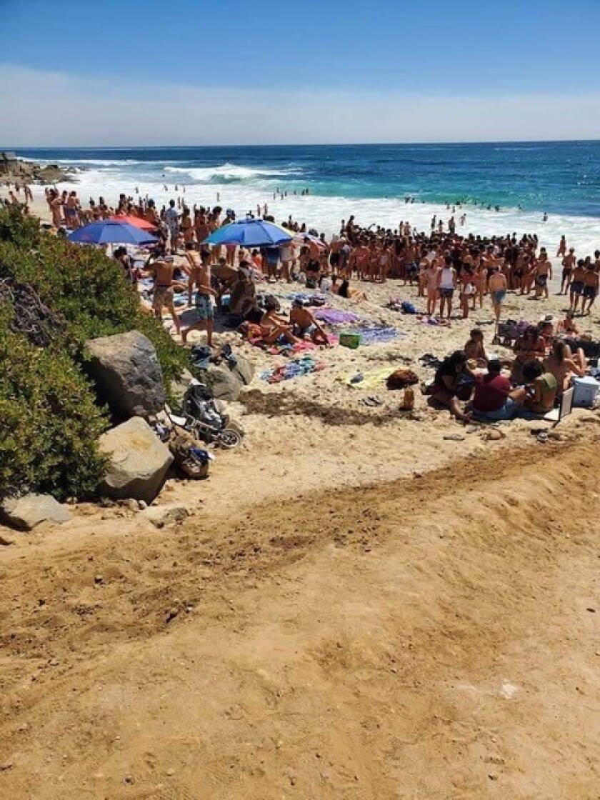 Marine Street Beach has had a large influx of visitors this summer, according to the Barber Tract Neighborhood Association.