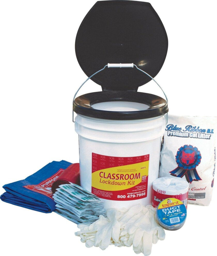 The SOS Survival Products 6401L Classroom Lockdown Kit. Courtesy SOS Survival Products
