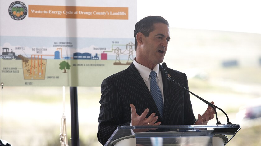 Orange County Supervisor Todd Spitzer, shown here in Irvine in 2016, is calling for greater oversight of sober living homes.