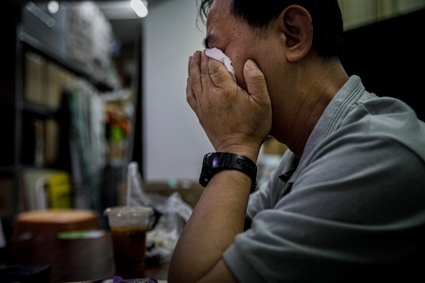 Cook weeps over violence in Hong Kong
