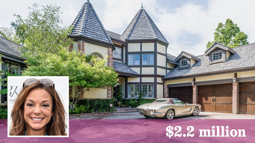 Actress Eva LaRue has listed her Tudor-style house in Woodland Hills for sale.