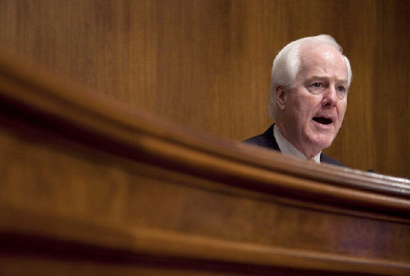 Sen. John Cornyn (R-Texas) has proposed legislation that would end Fast and Furious and bar new gun-tracking operations.