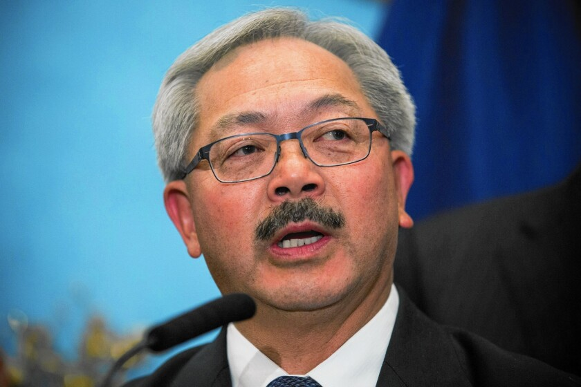 San Francisco Mayor Edwin Lee
