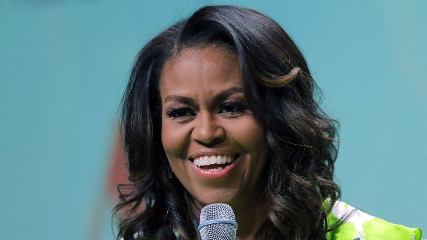 In this June 22, 2018 file photo, Michelle Obama speaks at the American Library Association annual conference in New Orleans. The former first lady was in San Diego on Sept. 19 as a keynote speaker at the BOLD Mindbody conference at the Hilton Bayfront San Diego hotel.