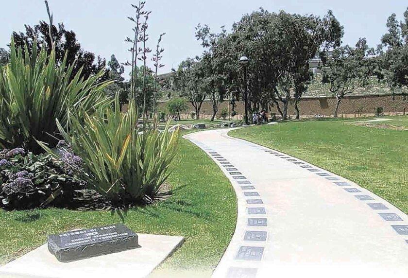 Rancho Bernardo's Pathway of Pride in Webb Park.
