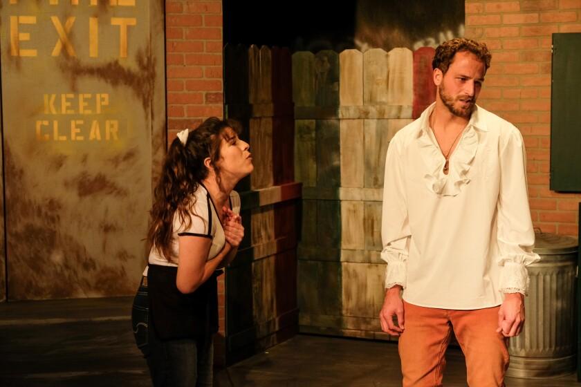 "Gina Maria Cioffi and Marco Kengott in ""Italian American Reconciliation."""