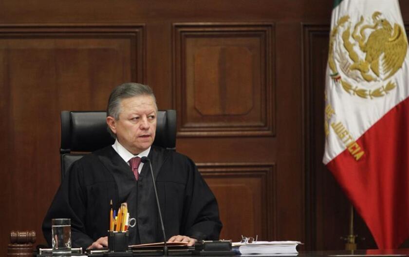 El magistrado Arturo Zaldívar durante su nombramiento como presidente de la Suprema Corte de Justicia de la Nación (SCJN) en Ciudad de México (México). EFE/Archivo