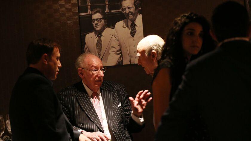 LAS VEGAS, NV - SEPTEMBER 20, 2018: Former Las Vegas Mayor Oscar Goodman hosts a dinner at Oscar's r