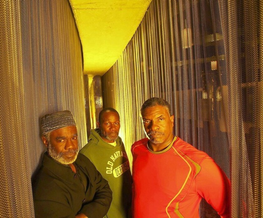 """Actors Glynn Turman, left, John Douglas Thompson and Keith David star in the August Wilson play """"Joe Turner's Come and Gone"""" at the Mark Taper Forum."""
