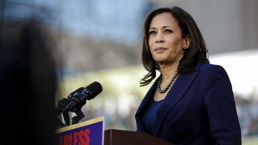 Sen. Kamala Harris of California urged Virginia Gov. Ralph Northam, a fellow Democrat, to resign.