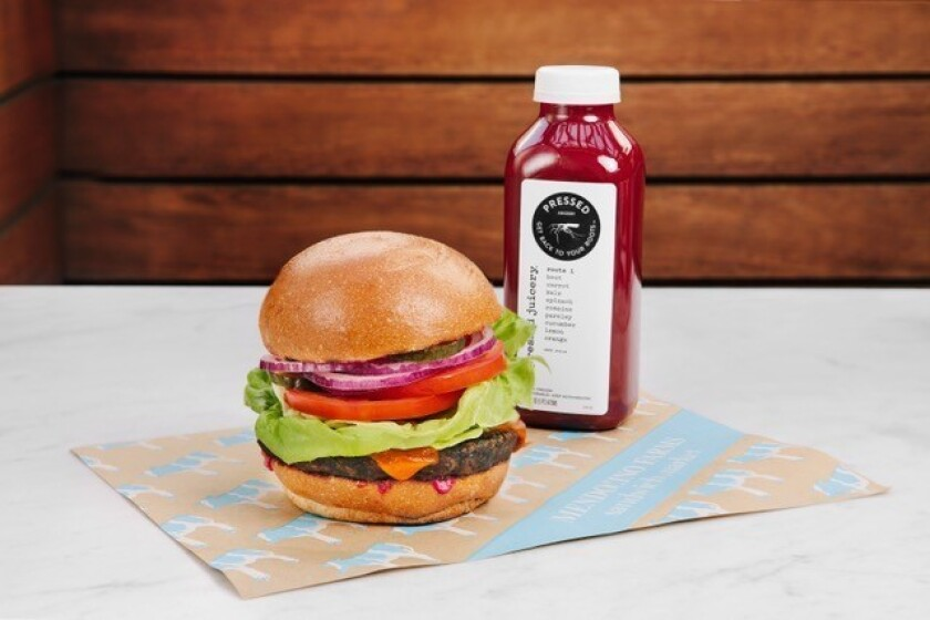 reduced waste burger mendocino farms