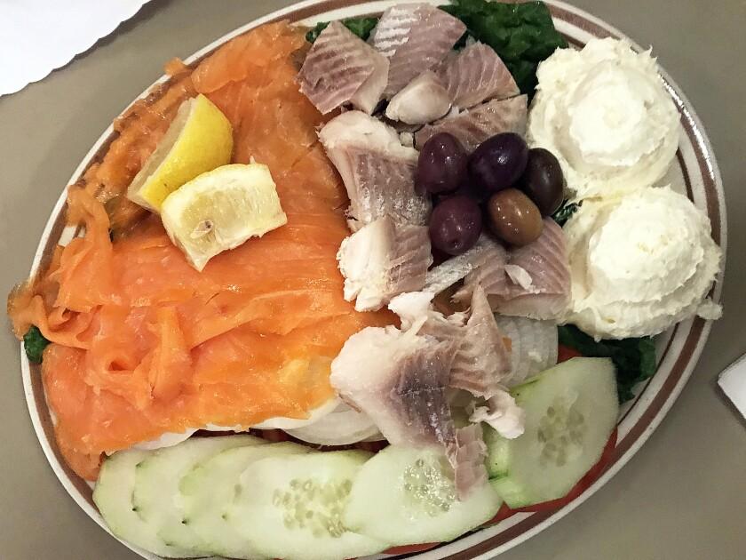 The fish platter from Art's Deli. (Jenn Harris / Los Angeles Times)