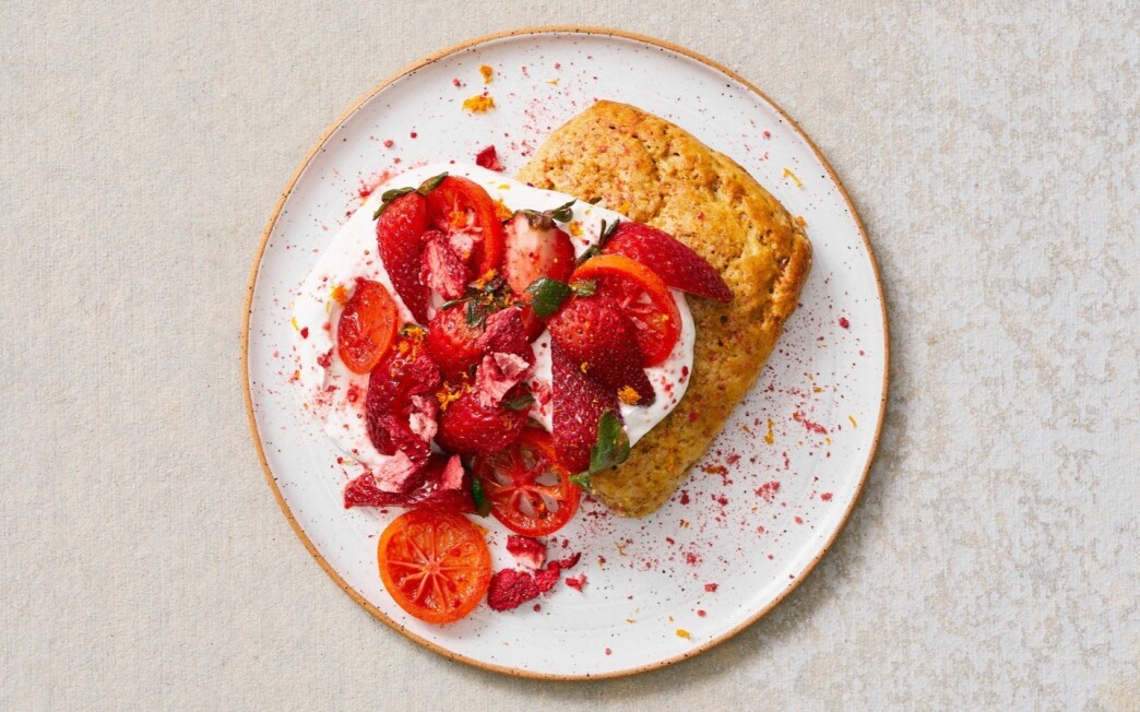 Strawberry shortcake made using Sqirl baker Elise Field's recipe.