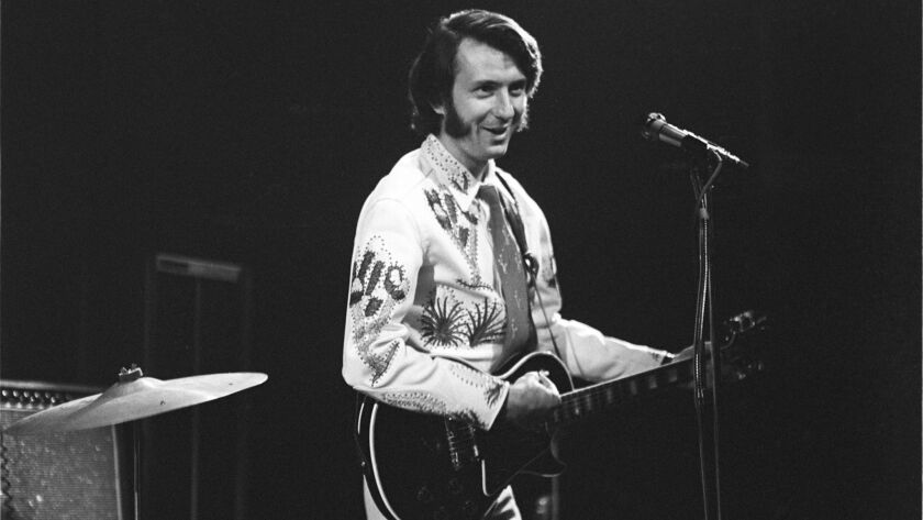 Michael Nesmith onstage at the Troubadour in 1970 with this First National Band (post-Monkees). Cred