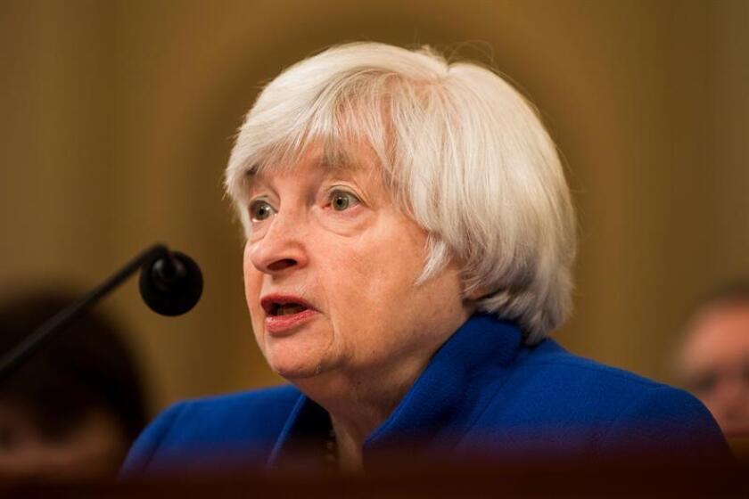 La presidenta de la Reserva Federal, Janet Yellen. EFE/Archivo