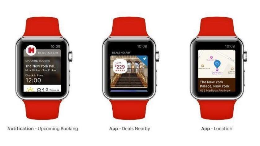 Hotels.com ha presentado su nueva y primera aplicación compatible con el reloj Apple, el cual le permitirá al usuario encontrar las ofertas de hotel cercanas