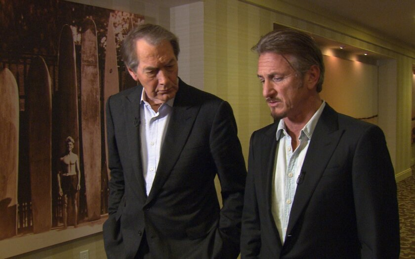 """Charlie Rose and Sean Penn on """"60 Minutes."""""""