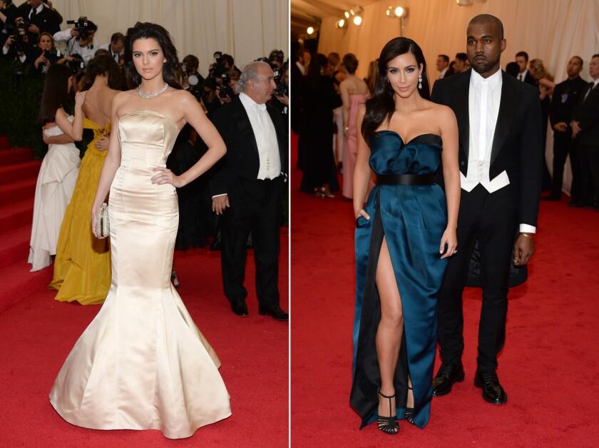 Kendall Jenner, Kim Kardashian, Kanye West at the 2014 Met Ball